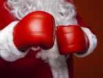 Red boxing gloves for Santa