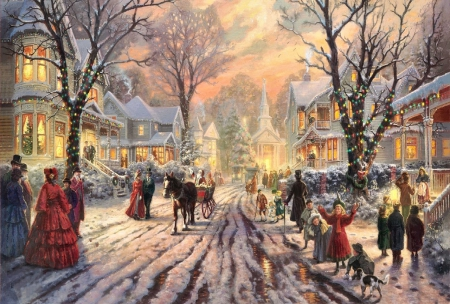 Small Town Christmas - Fantasy & Abstract Background Wallpapers on ...