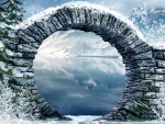 STONE ARCH in WINTER