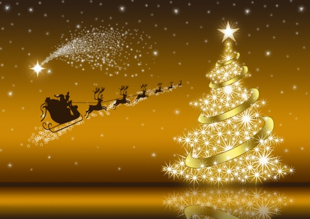 ♥ Golden Christmas Eve ♥~ - 3D and CG & Abstract Background ...