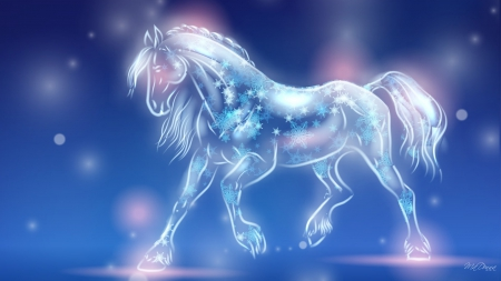 Cool horse wallpaper light