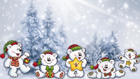 Cheerful teddys winter nature background wallpapers on for Cheerful nature