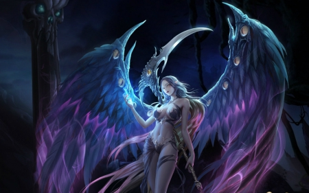 night angel fantasy amp abstract background wallpapers on