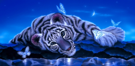 Fantasy white tiger - photo#15