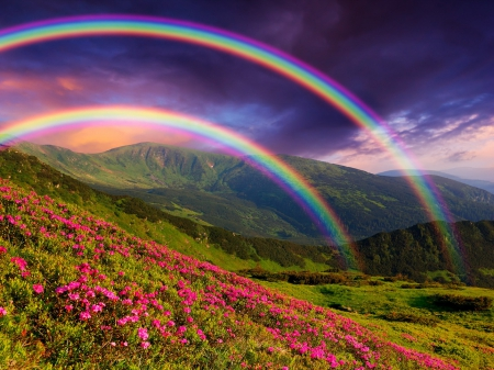 beautiful spring desktop wallpaper rainbow - photo #18