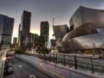 beautiful disney concert hall in los angeles hdr