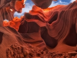gorgeous rock formation in antelope canyon