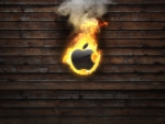 Burning apple