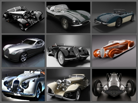 Classic Car Collage Other Cars Background Wallpapers On