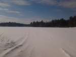 ~~; Old sled trails onto Loon Call Lake ;~~