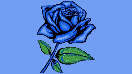 blue rose - rose, blue, blue rose, other