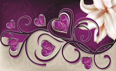 hearts background  other  abstract background wallpapers on, Beautiful flower
