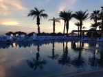 Sun setting on the Royal Solaris, Los Cabos, Mexico
