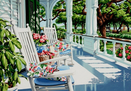 summer porch - other & abstract background wallpapers on desktop