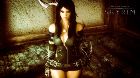 Photo Collection Skyrim Female Fan Made Wallpapers And Backgrounds