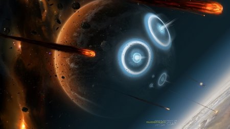 Praedestinatio - space, asteroids, planets, impacts, galaxies
