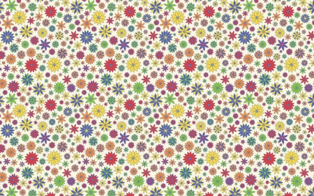 Flower Power II - flowers, spring, summer, 70s, color, pattern, bright, illustration, hippie