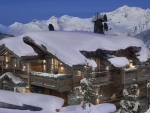 lodge in the ski resort of courchevel france