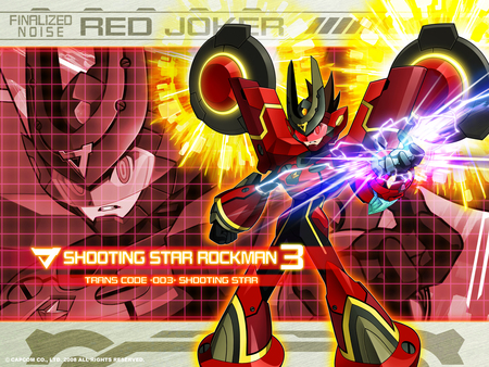 Megaman Starforce 3: Red Joker - shooting, joker, 3, star, megaman, starforce, red, rockman