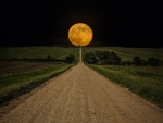 straight road to a super moon
