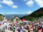 tour de france bike race over the alps