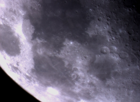 Lunar craters - moon, space, crater, mare