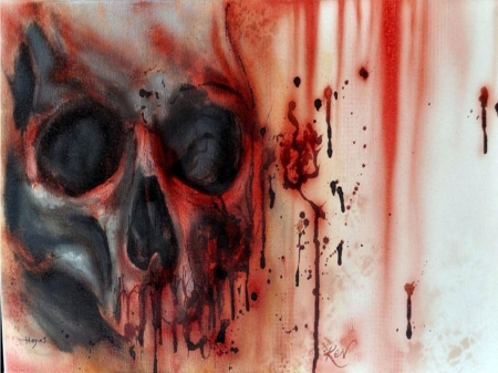 bloody skull wallpaper related - photo #21
