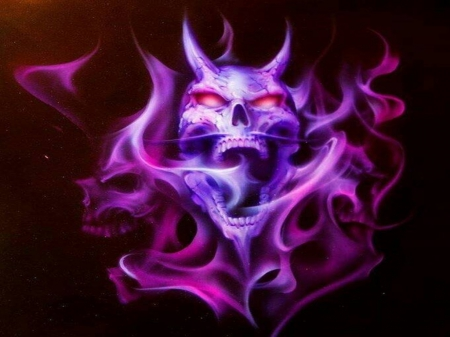 purple skull 3d and cg amp abstract background wallpapers
