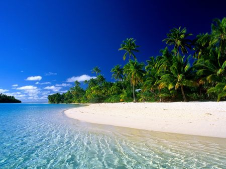 Beautiful Beach - clear sky, beautiful beach, white sand, beautiful, ocean, beach