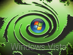 Green Windows Vista Swirl