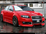 Red Audi RS4