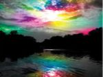 colorful lake