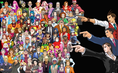 Ace Attorney Characters - phoenix wright, apollo justice, ace attoreny