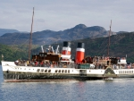 the paddle steamer waverley in scotland