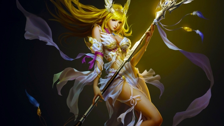 League of Angels - girl, wallpaper, woman, beautiful, angel, art, fantasy, digital