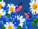 Daisies and Blue Bells