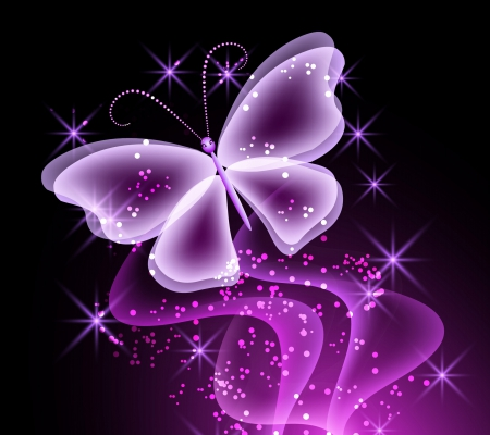 Neon Butterfly - Butterflies & Animals Background ...