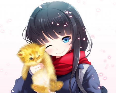 Cute kitty other anime background wallpapers on - Cute asian cartoon wallpaper ...
