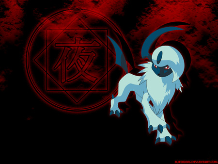 Absol-Bloody Night - absol, pokemon