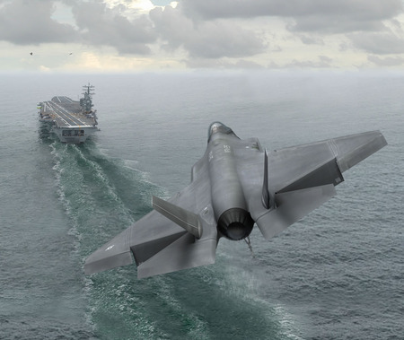 stealth fighter - cool, on ship, free, landing, military, do, picture, 21 sentury plane