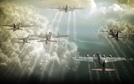 Bombing Run - Antique & Aircraft Background Wallpapers on ...