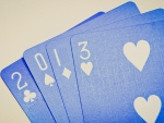 Blue playing cards