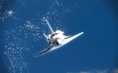 space shuttle - the, air, In, high