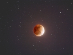 The Blood Moon in the Night Sky