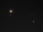Spica, Mars, and Eclipsed Moon