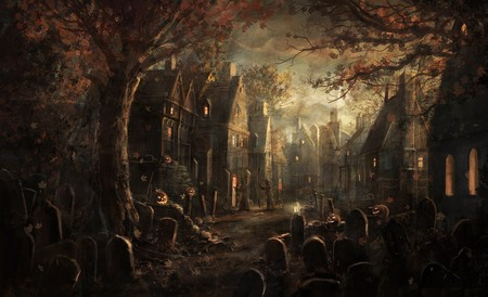 Halloween Town - halloween, pumpkin, irish, celtic, scarry, dark, samhain, town