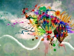 Hot air balloons art