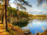 HDR Beautiful Lake in Autumn