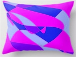 Pink and blue pillow