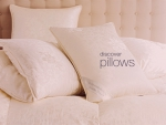 Luxurious pillows in damask